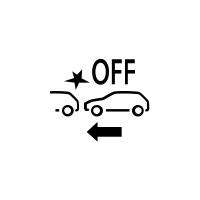 (W zależności od pojazdu) Wskaźnik awarii lub niedostępności aktywnego hamowania awaryjnego