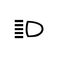 Lampka kontrolna świateł drogowych