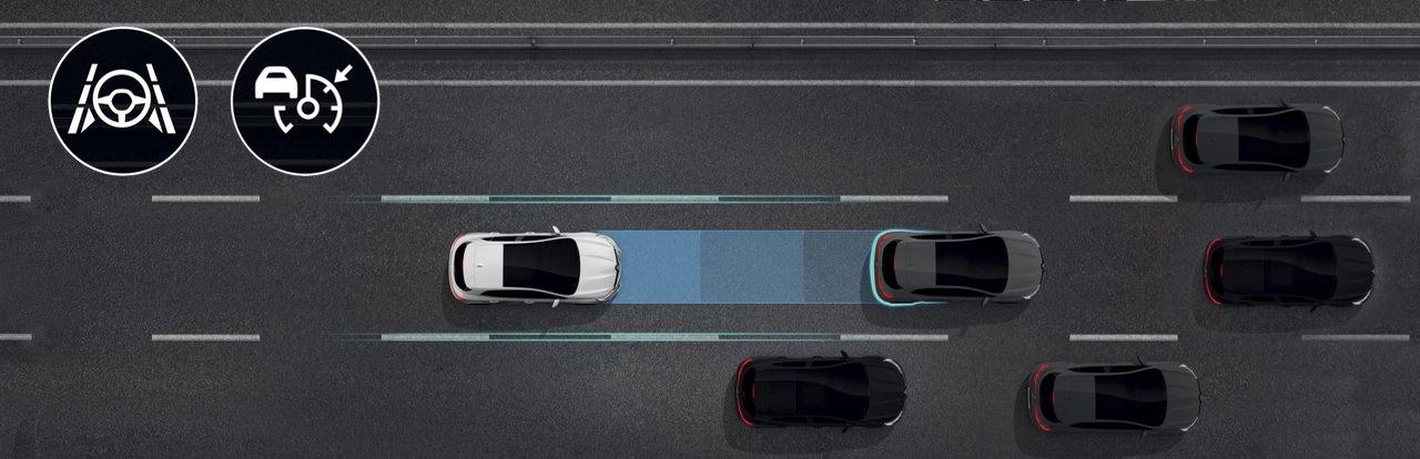 Asystent jazdy po autostradzie i w korkach